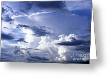 Storm Of Namibia Greeting Card