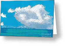 Storm Off The Beach Greeting Card
