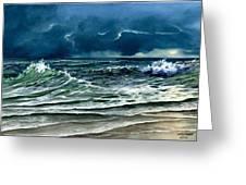 Storm Off Yucatan Mexico Greeting Card