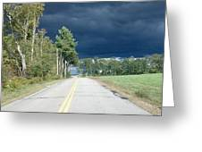 Storm On It's Way Greeting Card