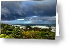 Storm On Oregon Coast Greeting Card