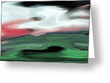 Storm On The American Landscape Greeting Card