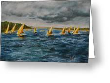Storm On The Nile Greeting Card