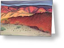 Storm Outback Australia Greeting Card