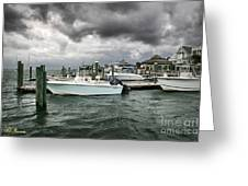 Storm Over Banks Channel Greeting Card by Phil Mancuso