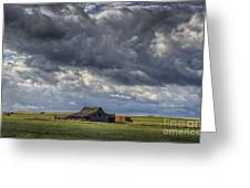 Storm Over Barn Greeting Card