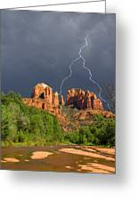 Storm Over Cathedral Rock Greeting Card