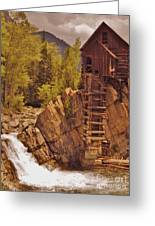 Storm Over Crystal Mill Greeting Card