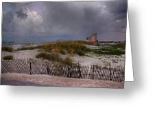 Storm Over Gulf Shores  Greeting Card