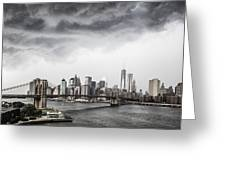 Storm Over Manhattan Greeting Card