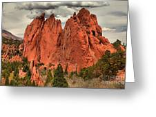 Storm Over Red Rocks Greeting Card