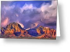 Storm Over Sedona Greeting Card