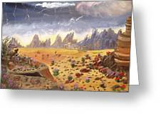 Storm Over The Desert Greeting Card