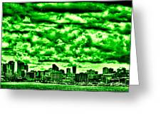 Storm Over The Emerald City Greeting Card by David Patterson