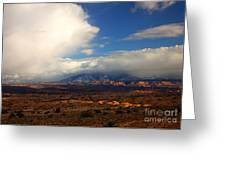 Storm Over The La Sals Greeting Card
