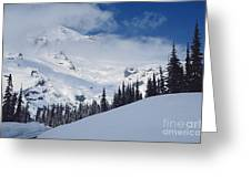 Storm Over The Summit Greeting Card