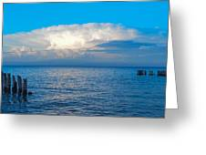 Storm Over Whitefish Bay Greeting Card