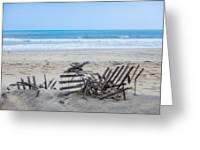 Storm Ravaged Fence  Greeting Card