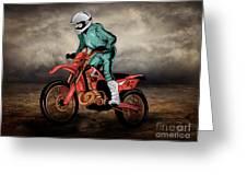 Storm Rider V1 Greeting Card