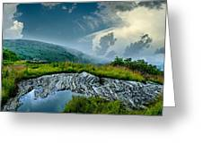 Storm Rolling In On Black Balsom Greeting Card