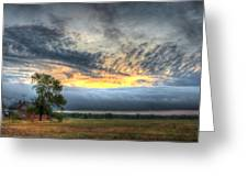 Storm Rolling Through Greeting Card