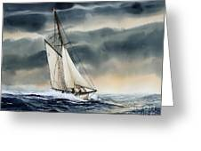 Storm Sailing Greeting Card