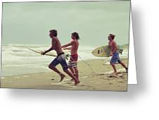 Storm Surfers Greeting Card
