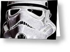 Storm Trooper Helmet Greeting Card