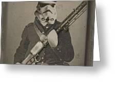 Storm Trooper Star Wars Antique Photo Greeting Card by Tony Rubino