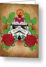 Storm Trooper Sugar Skull Greeting Card