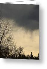 Storm Virga Over Rogue Valley Greeting Card