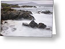 Storm Waves And Cliffs Greeting Card