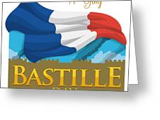 Storming Of The Bastille Representation Greeting Card