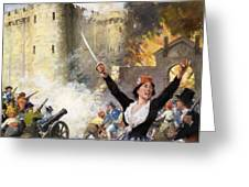 Storming The Bastille Greeting Card