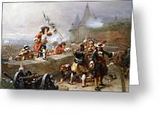 Storming The Battlements Greeting Card