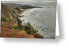 Storms Over A Rugged Coast Greeting Card