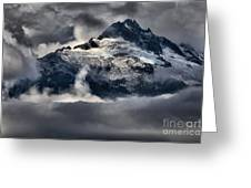 Storms Over Jagged Peaks Greeting Card