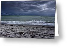 Storm's Rolling In Greeting Card