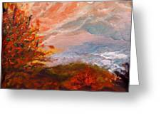 Stormy Autumn Day Greeting Card