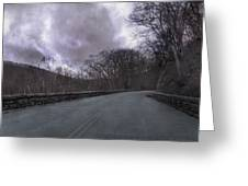 Stormy Blue Ridge Parkway Greeting Card