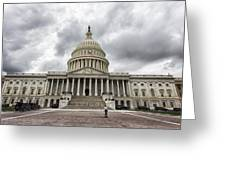 Stormy Capitol Day II Greeting Card