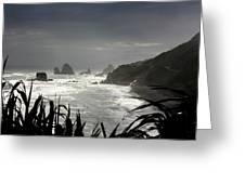 Stormy Coast New Zealand Greeting Card