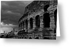 Stormy Colosseum Greeting Card