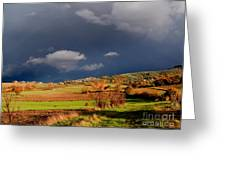 Stormy Countryside Greeting Card