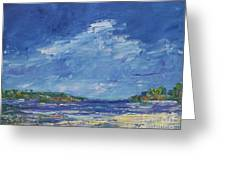Stormy Day At Picnic Island Greeting Card