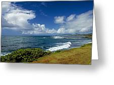 Stormy Day At The Beach Greeting Card