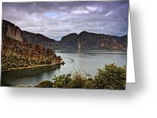 Stormy Day At The Lake  Greeting Card