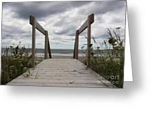 Stormy Day - Boardwalk To The Sea Greeting Card