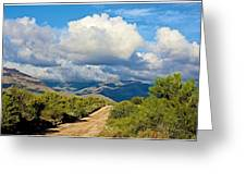 Stormy Day In The Desert Greeting Card