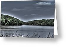 Stormy Day On The Potomac River Greeting Card